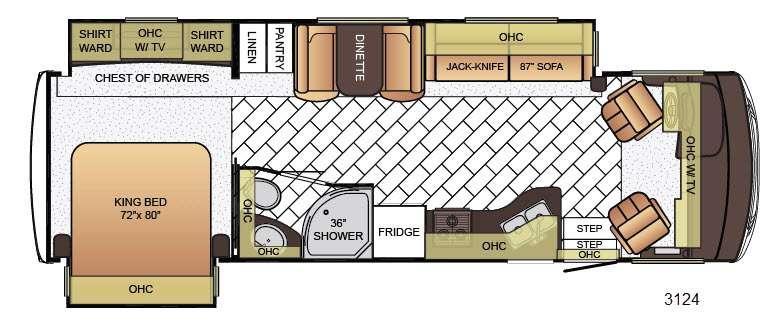 Floorplan - 2016 Newmar Bay Star 3124