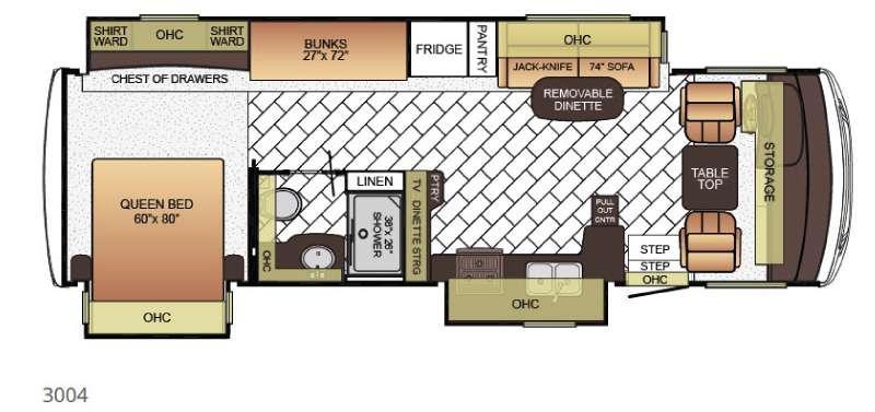 Floorplan - 2016 Newmar Bay Star 3004