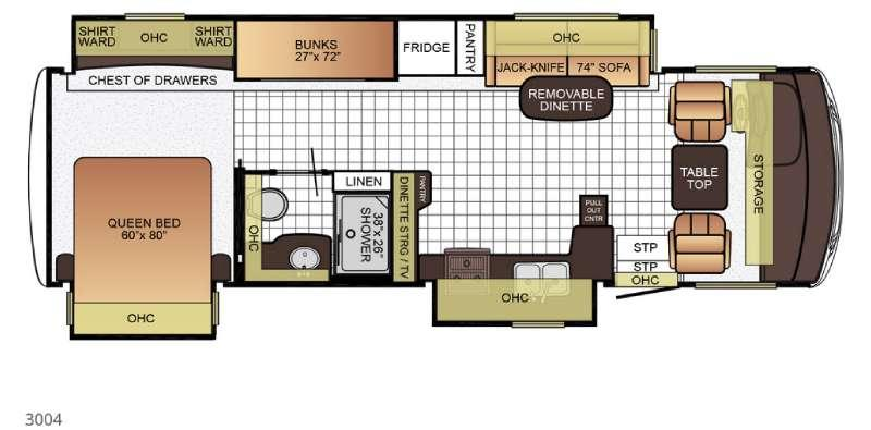 Floorplan - 2016 Newmar Bay Star Sport 3004