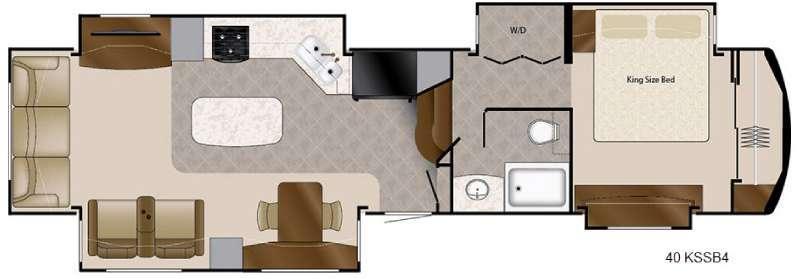 Floorplan - 2016 DRV Luxury Suites Mobile Suites 40 KSSB4