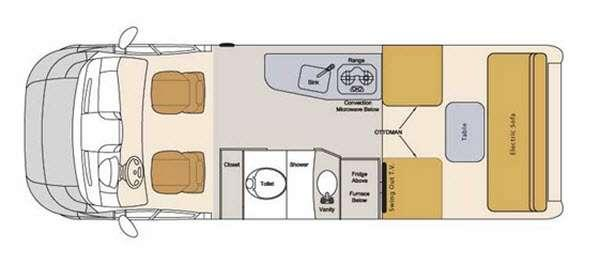 Floorplan - 2016 Pleasure-Way Lexor TS
