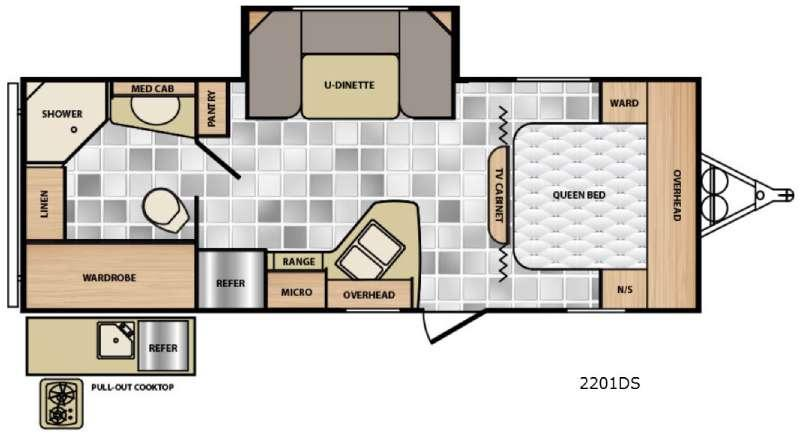 Floorplan - 2016 Winnebago Industries Towables Minnie 2201 DS