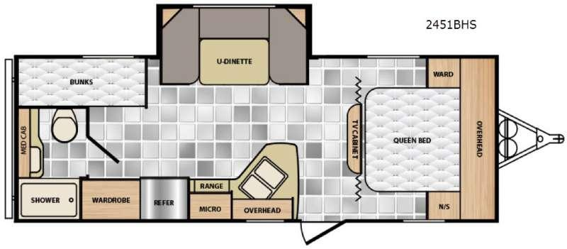 Floorplan - 2016 Winnebago Industries Towables Minnie 2451 BHS
