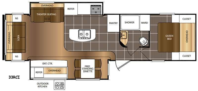 Avenger 33RCI Floorplan