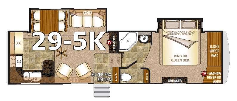 Floorplan - 2016 Northwood Arctic Fox 29-5K