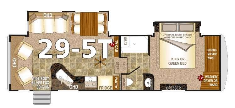Floorplan - 2016 Northwood Arctic Fox 29-5T