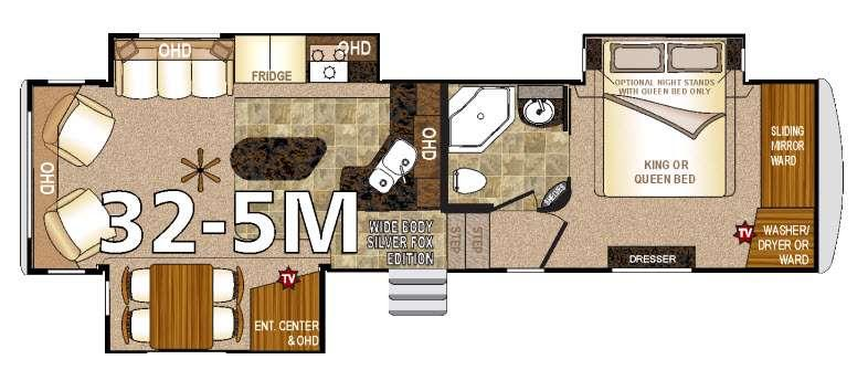 Floorplan - 2016 Arctic Fox 32-5M Fifth Wheel