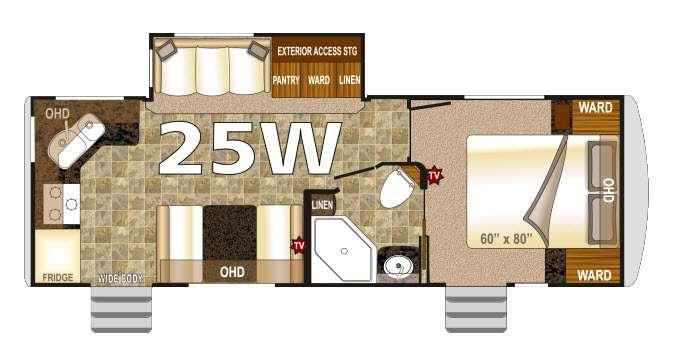 Floorplan - 2016 Northwood Arctic Fox 25W