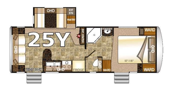 Floorplan - 2016 Northwood Arctic Fox 25Y