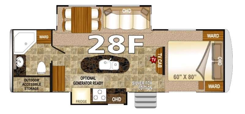 Floorplan - 2016 Northwood Arctic Fox 28F