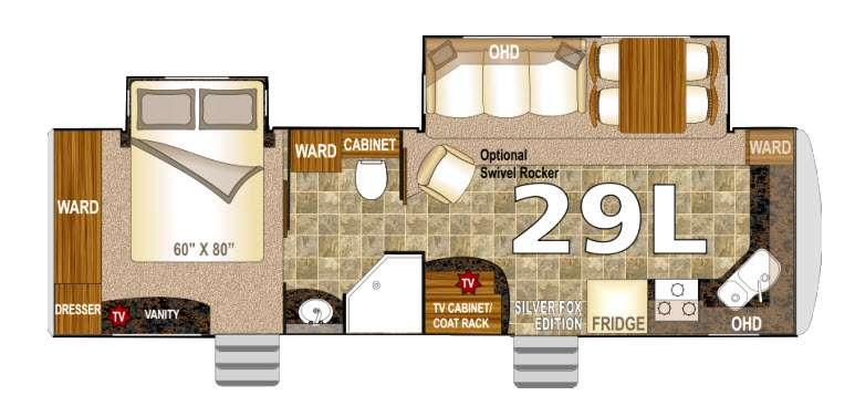 Floorplan - 2016 Northwood Arctic Fox 29L