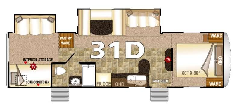 Floorplan - 2016 Northwood Arctic Fox 31D
