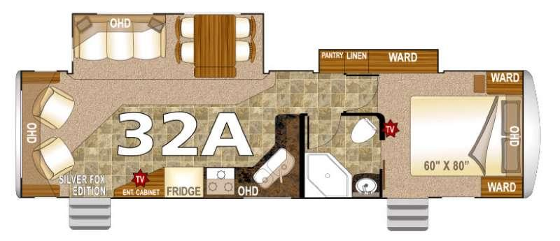 Floorplan - 2016 Northwood Arctic Fox 32A