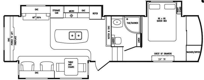 Floorplan - 2016 DRV Luxury Suites Tradition 340RES