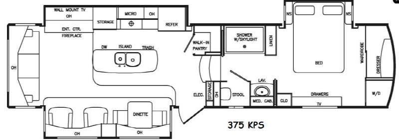 Floorplan - 2016 DRV Luxury Suites Tradition 375KPS