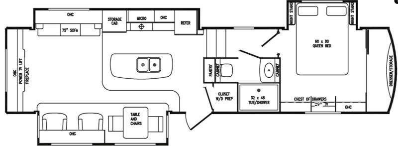 Floorplan - 2016 DRV Luxury Suites Tradition 380RES
