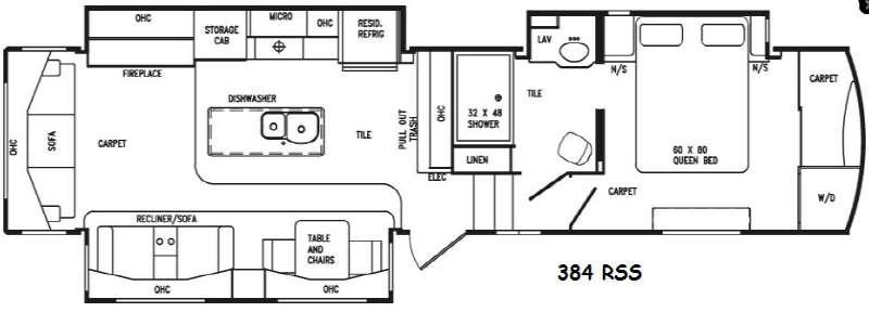 Floorplan - 2016 DRV Luxury Suites Tradition 384RSS