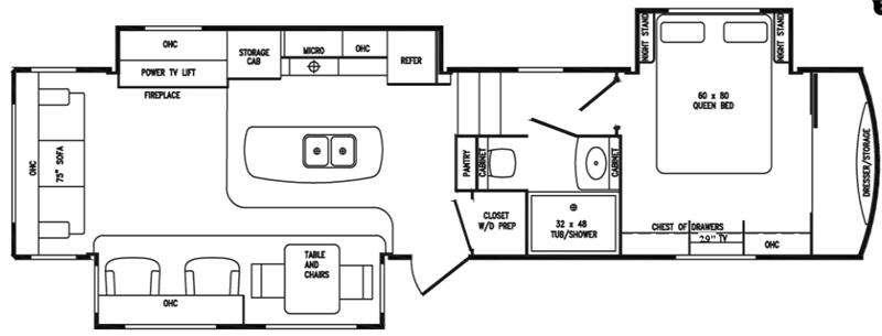 Floorplan - 2016 DRV Luxury Suites Tradition 385RSS