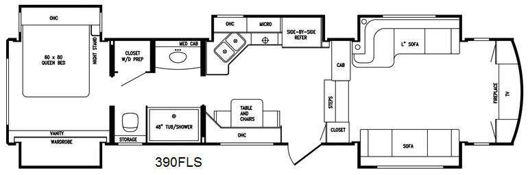 Floorplan - 2016 DRV Luxury Suites Tradition 390FLS