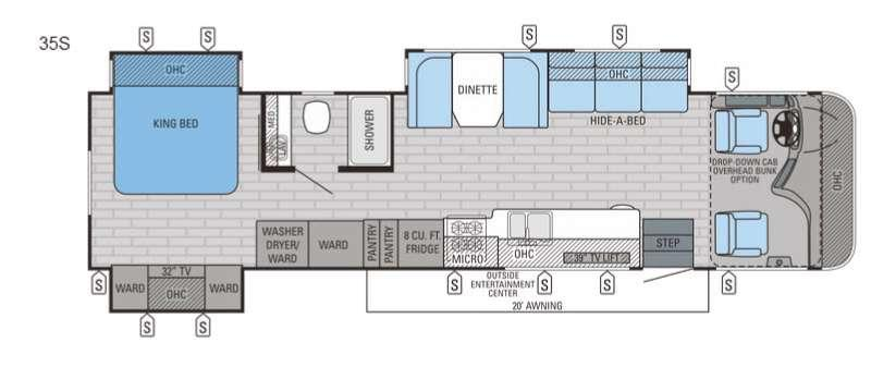 Floorplan - 2016 Jayco Precept 35S