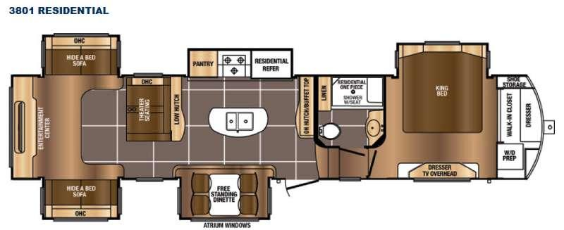 Floorplan - 2016 Prime Time RV Sanibel 3801