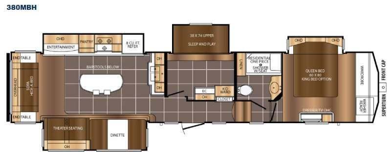 Floorplan - 2016 Prime Time RV Crusader 380MBH