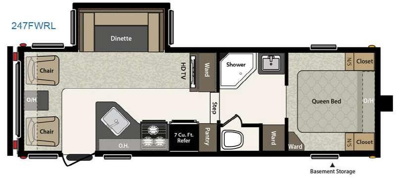 Floorplan - 2016 Keystone RV Springdale 247FWRL