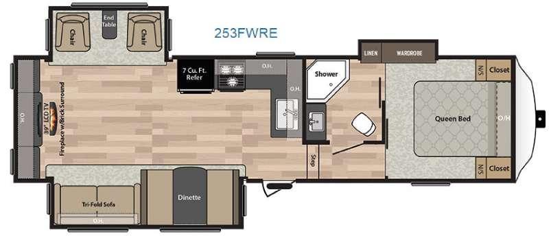 Floorplan - 2016 Keystone RV Springdale 253FWRE