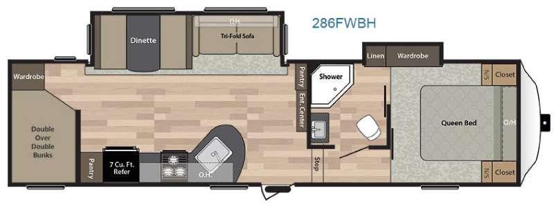 Floorplan - 2016 Keystone RV Springdale 286FWBH