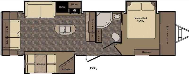 Sunset Trail Reserve ST29RL Floorplan Image
