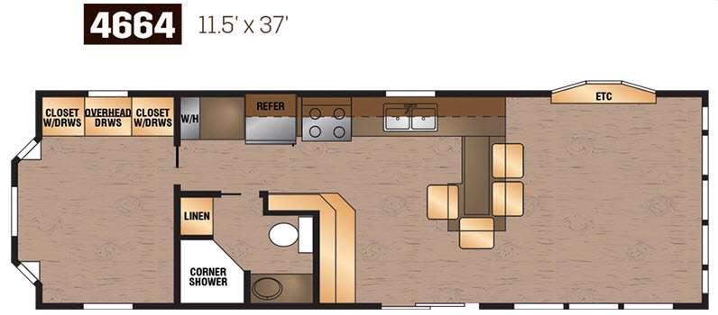 Floorplan - 2016 Kropf Industries Island Series 4664
