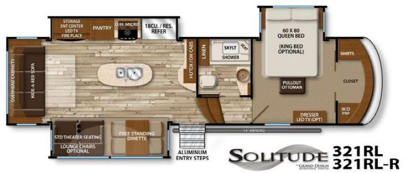 Floorplan - 2016 Grand Design Solitude 321RL