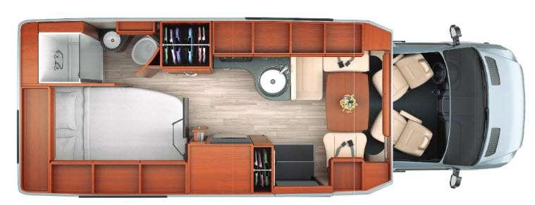 Floorplan - 2016 Leisure Travel Libero 24CB