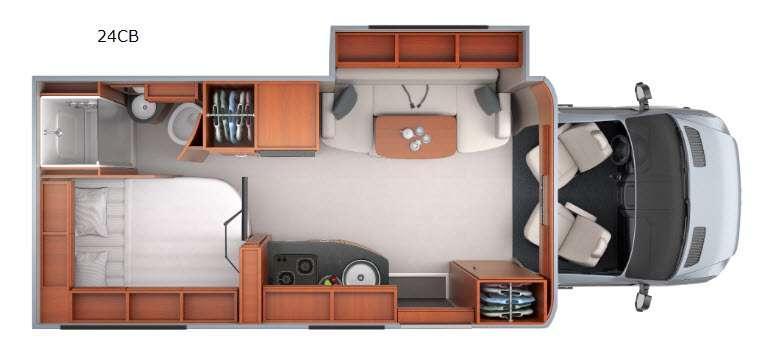 Floorplan - 2016 Leisure Travel Unity U24CB