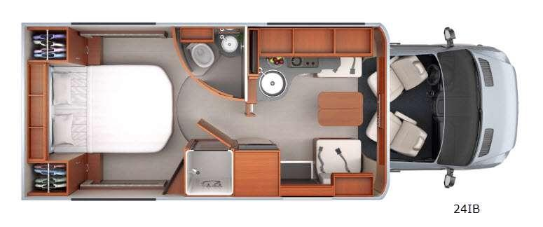 Floorplan - 2016 Unity U24IB Motor Home Class B+ - Diesel