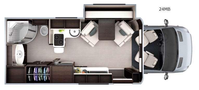 Floorplan - 2016 Leisure Travel Unity U24MB