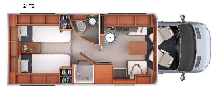 Floorplan - 2016 Leisure Travel Unity U24TB