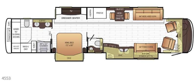 Floorplan - 2016 Newmar King Aire 4553