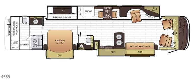 Floorplan - 2016 Newmar King Aire 4565