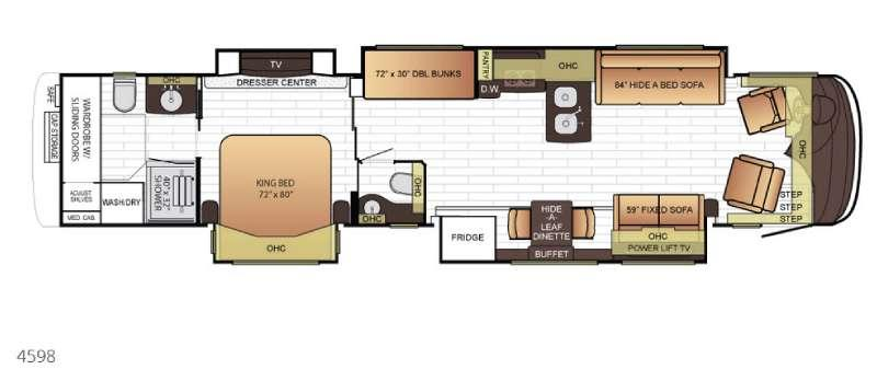 Floorplan - 2016 Newmar King Aire 4598