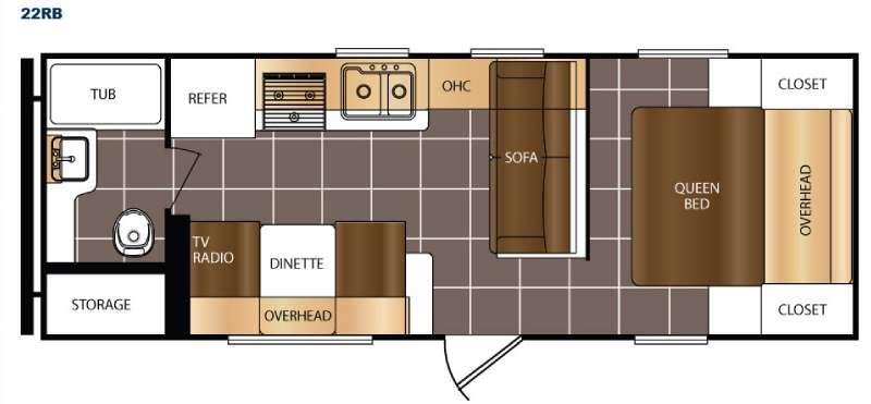Floorplan - 2016 Prime Time RV Avenger 22RB