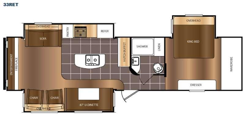 Floorplan - 2016 Prime Time RV Avenger 33RET