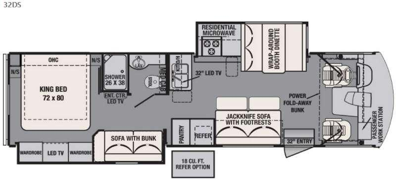 Floorplan - 2016 Forest River RV FR3 32DS