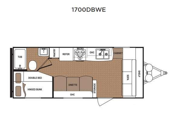 Floorplan - 2016 Dutchmen RV Aspen Trail 1700DBWE