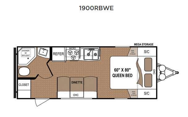Floorplan - 2016 Dutchmen RV Aspen Trail 1900RBWE