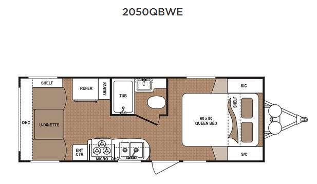 Floorplan - 2016 Dutchmen RV Aspen Trail 2050QBWE