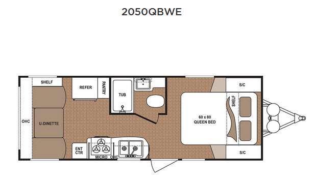 Floorplan - 2016 Dutchmen RV Aspen Trail 2050QBWE