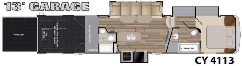 Floorplan - 2016 Heartland Cyclone 4113