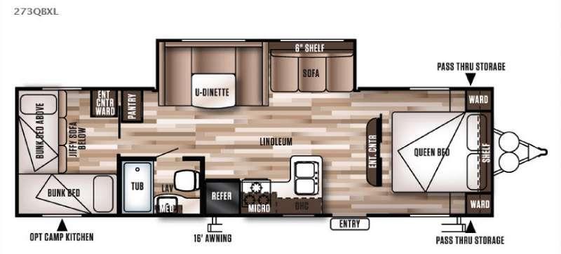 Wildwood X-Lite 273QBXL Floorplan Image