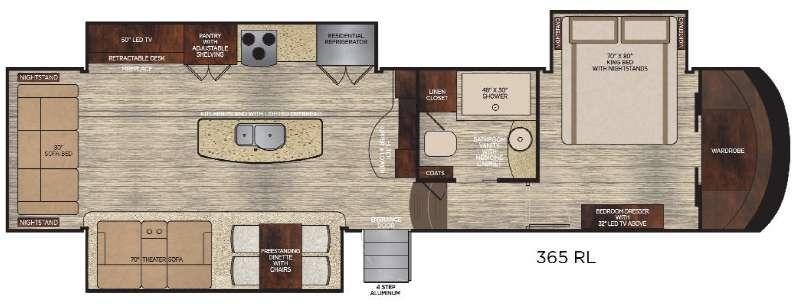 Floorplan - 2016 Vanleigh RV Vilano 365RL